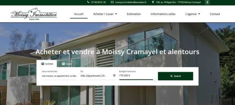 site moissy immobilier